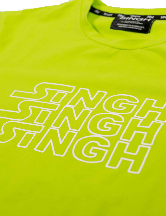 Triple logo T-shirt - Neon