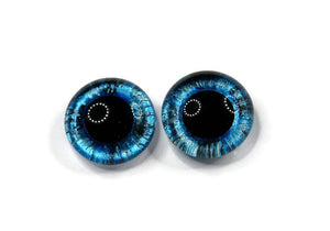 Hand Painted Eyes-Blue