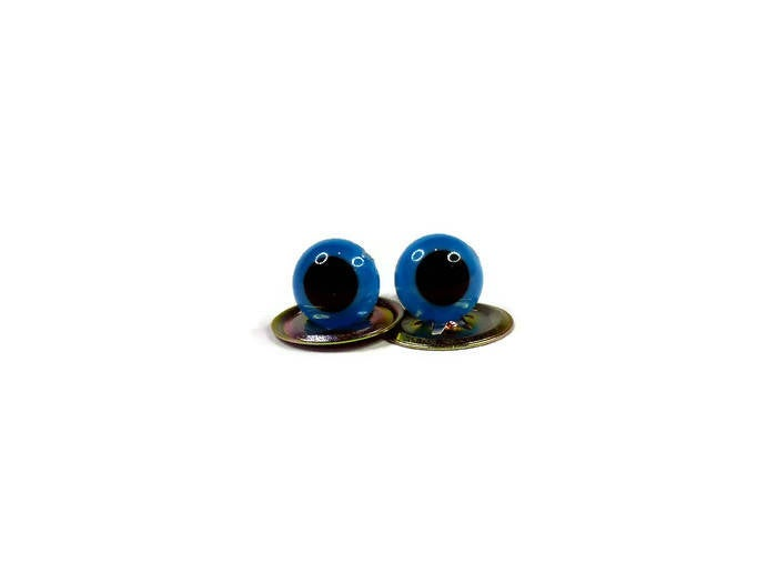 6mm + 7.5mm High Quality BRIGHT BLUE Teddy Bear Eyes