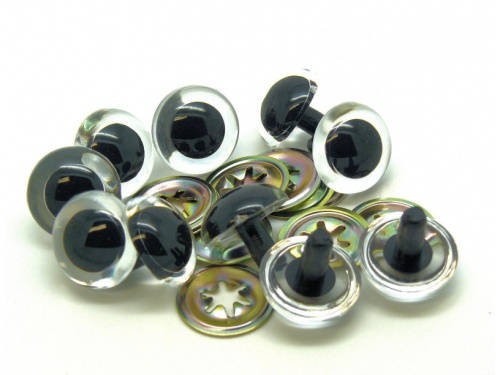 CLEAR - TRANSPARENT Teddy Bear Eyes - 14mm, 16mm