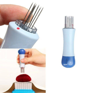 Needle Felting Punch Tool w/ 7 Needles included, Make your needle felting project even easier and quicker finish! Needle Felting