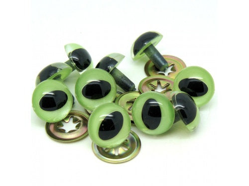 GREEN PEARL Cat Eyes  7.5mm 10mm 14mm