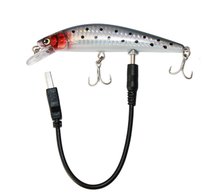 USB Rechargable LED Twitching Fish Lure