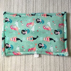 JUMBO Lap Pad - Mermaids with Teal Blue Fleece