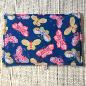 JUMBO Lap Pad - Butterflies with Yellow Fleece