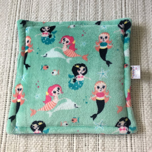 Lap Pad - Mermaids with Teal Blue Fleece