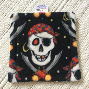 Bottle Pad - Pirates with Grey Fleece