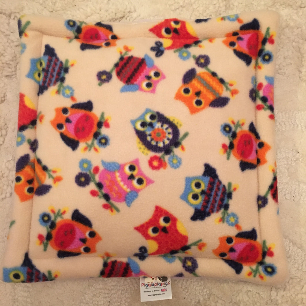 Lap Pad - Owls with Lilac Fleece