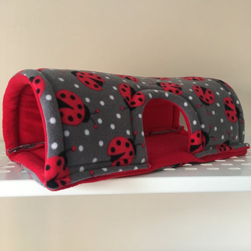 Wheek-a-Boo Ladybugs with Red Fleece