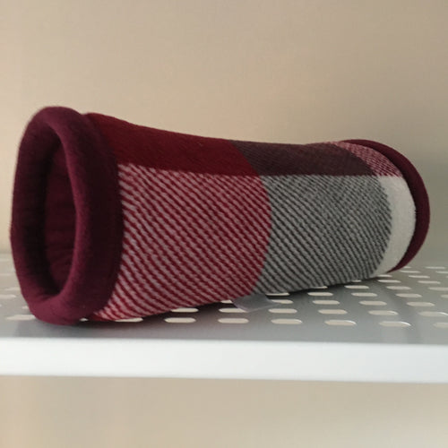 Tunnel - Burgundy Check with Wine Fleece