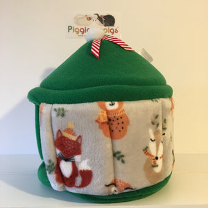 Christmas 2020 Pigtop - Winter Animals with Green Fleece