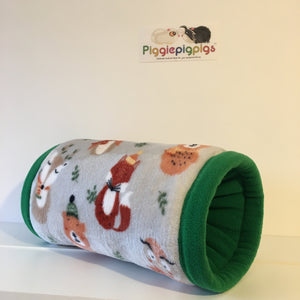 Christmas 2020 Tunnel - Winter Animals with Green Fleece