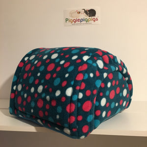 Piglu - Teal Spots with Teal Fleece