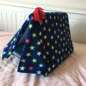 Tent - Teal Stars with Light Blue Fleece