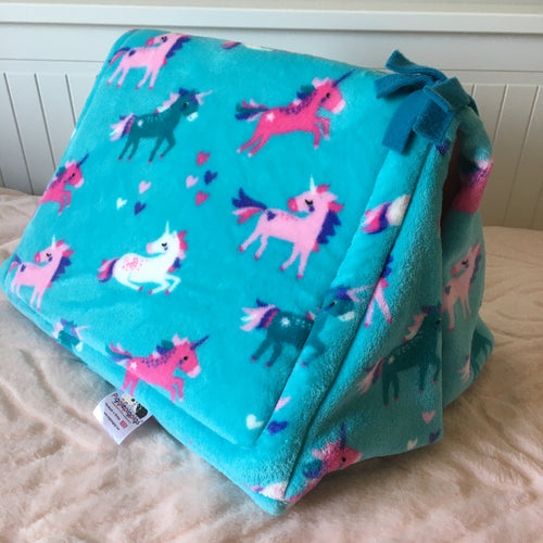 Tent - Unicorns with Light Pink Fleece