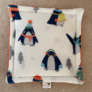 Christmas 2020 Lap Pad - Penguins with Orange Fleece
