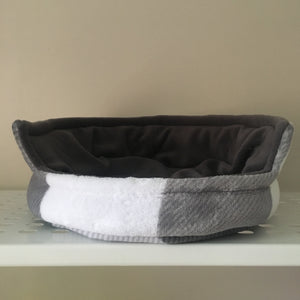 Bunnie Snug  - Grey Tartan with Grey Fleece