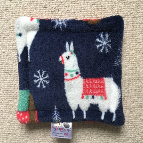 Christmas 2018 Bottle Pad - Llama and Sloth with Red Fleece