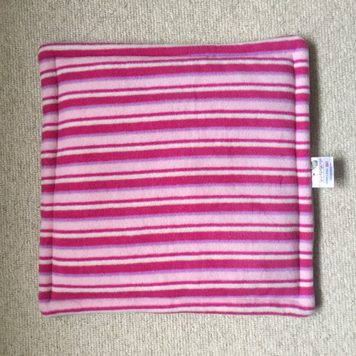 Lap Pad - Pink Stripes with Lilac Fleece