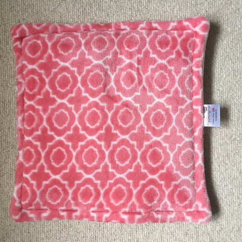 Lap Pad - Supersoft Pink with Cream Fleece