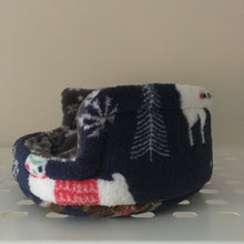 Load image into Gallery viewer, Christmas 2018 Piggie Snug SMALL - Llama and Sloth with Grey Snowflake Fleece