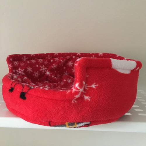 Christmas 2018 Bunnie Snug  - Santas and Elfs with Red Snowflake Fleece