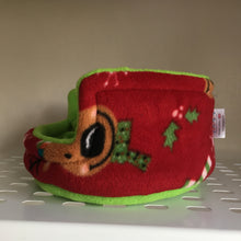 Load image into Gallery viewer, Christmas 2019 Piggie Snug SMALL - Rudolph with Green Fleece