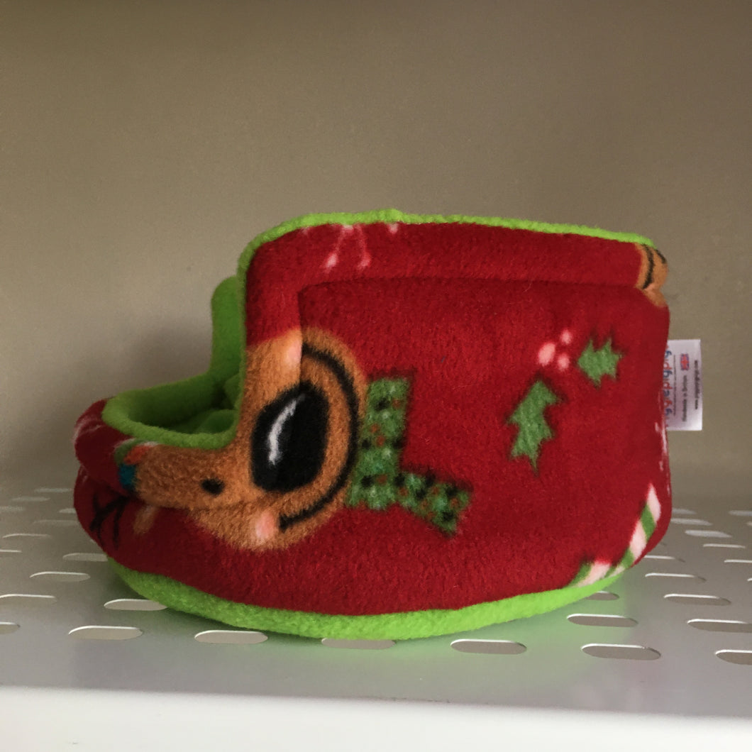 Christmas 2019 Piggie Snug SMALL - Rudolph with Green Fleece