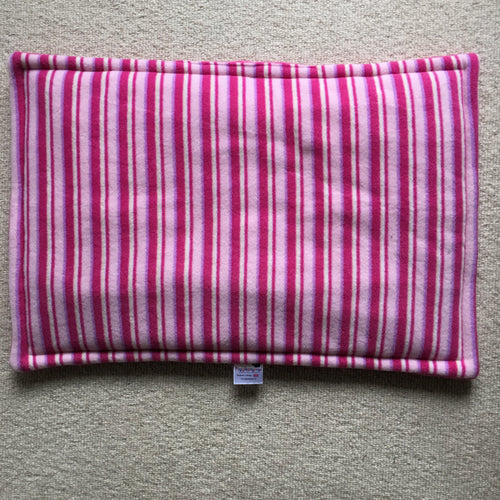 JUMBO Lap Pad - Pink Stripes with Hot Pink Fleece