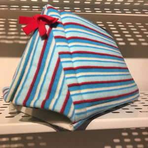Tent - Blue Stripes with Cream Fleece