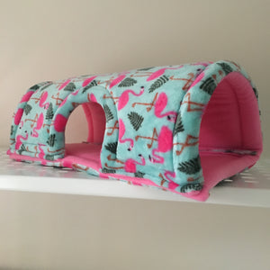 Wheek-a-Boo Flamingos with Bubblegum Pink Fleece