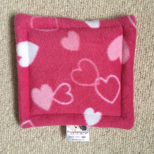 Valentines 2019 Bottle Pad - Hearts with Hot Pink Fleece