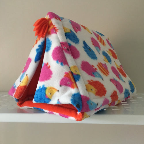 Tent - Hedgehogs with Orange Fleece