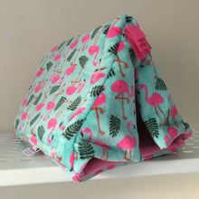 Load image into Gallery viewer, Tent - Flamingo with bubblegum pink Fleece