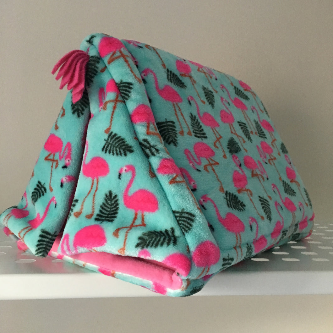 Tent - Flamingo with bubblegum pink Fleece