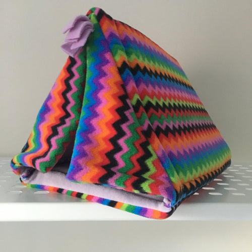 Tent - Zig Zag with Lilac Fleece