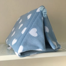 Load image into Gallery viewer, Tent - Hearts with Light Blue Fleece