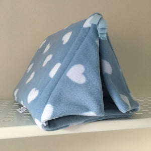 Tent - Hearts with Light Blue Fleece