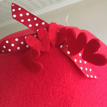 Load image into Gallery viewer, ***PRE ORDER*** Valentines 2020 Pigtop - Hearts with Red Fleece
