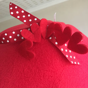 ***PRE ORDER*** Valentines 2020 Pigtop - Hearts with Red Fleece