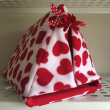 Load image into Gallery viewer, ***PRE ORDER*** Valentines 2020 Tent - Hearts with Red Fleece
