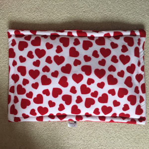 ***PRE ORDER*** Valentines 2020 JUMBO Lap Pad - Hearts with Red Fleece