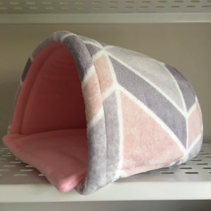Piglu - Pink Geo with Pink Fleece