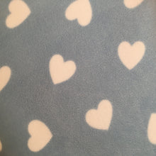Load image into Gallery viewer, JUMBO Lap Pad - Hearts with Blue Fleece
