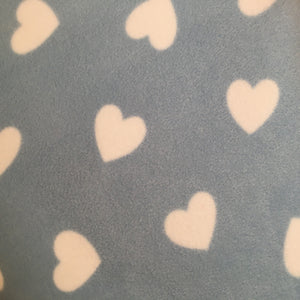 JUMBO Lap Pad - Hearts with Blue Fleece