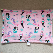 Load image into Gallery viewer, JUMBO Lap Pad - Pink Mermaid with Pink Fleece