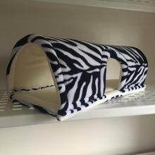 Load image into Gallery viewer, Wheek-a-Boo - Zebra with Cream Fleece