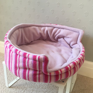 Bunnie Snug  - Pink Stripes with Lilac Fleece