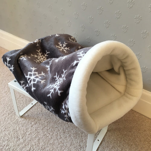 Open Ended Piggie Dig - Snowflakes with Cream Fleece