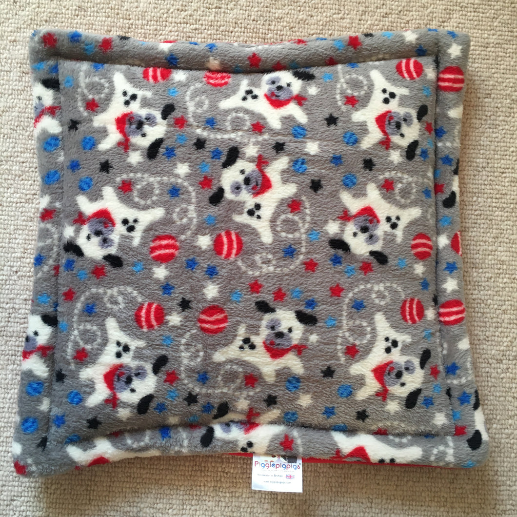 Lap Pad - Dogs with Red Fleece